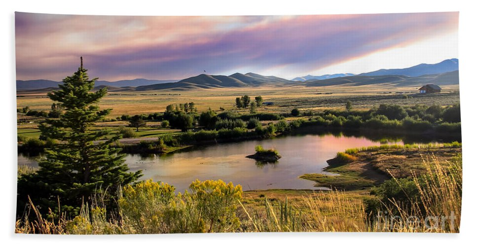 Landsacape Bath Sheet featuring the photograph Early Morning View by Robert Bales