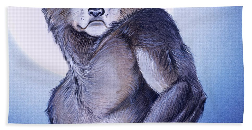 Werewolf Hand Towel featuring the painting Ears of the Werewolf by Melissa A Benson