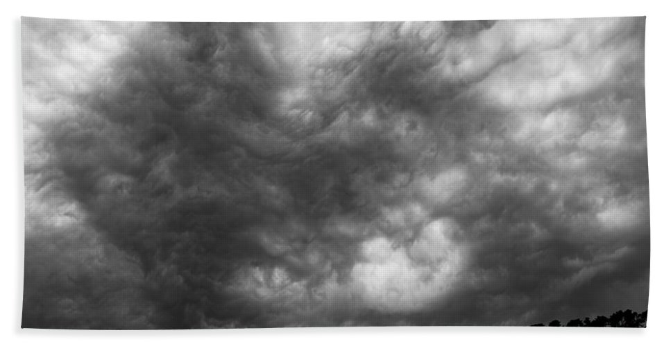Black Bath Sheet featuring the photograph Earth And Sky No.19 by Marc Ward