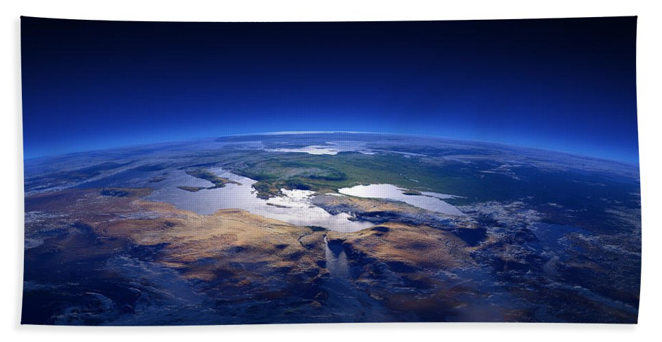 Earth Bath Towel featuring the photograph Earth - Mediterranean Countries by Johan Swanepoel