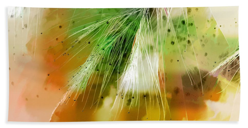 Abstract Bath Sheet featuring the photograph Earth Silk by Holly Kempe