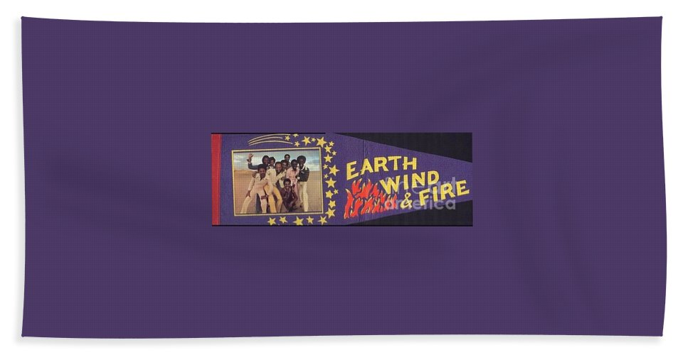 Earth Hand Towel featuring the photograph Earth Wind Fire Pennant 1970s by Jussta Jussta