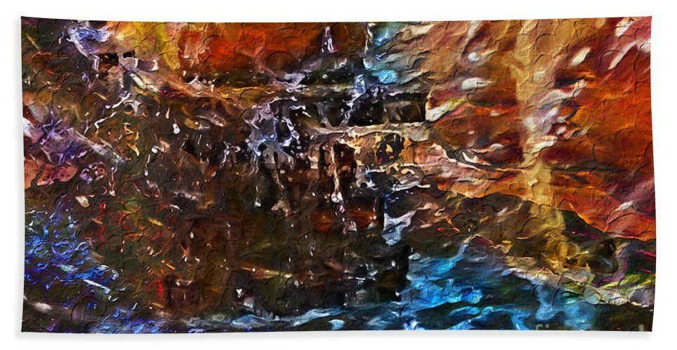 Water And Streams Art Bath Sheet featuring the digital art Earthy Abstract by Margie Chapman