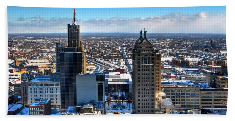 Winter Hand Towel featuring the photograph East Side Winter 2013 by Michael Frank Jr