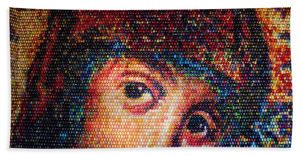 Kiev Bath Sheet featuring the photograph Easter Eggs Mosaic by Iryna Goodall