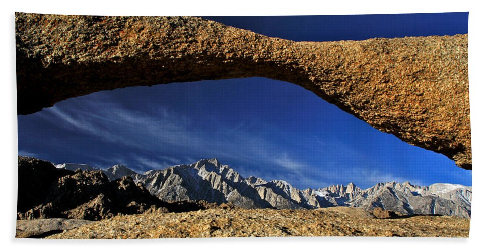 California Hand Towel featuring the photograph Eastern Sierra Nevada Mountains Lathe Arch by Ed Riche
