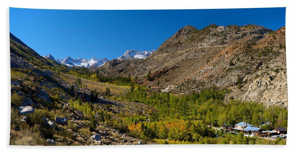 Eastern Sierras Hand Towel featuring the photograph Eastern Sierras 11 by Richard J Cassato