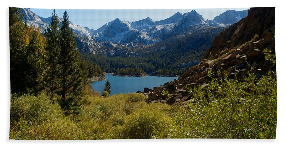 Eastern Sierras Hand Towel featuring the photograph Eastern Sierras 22 by Richard J Cassato