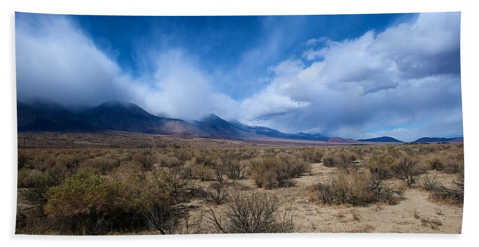 Eastern Sierras Hand Towel featuring the photograph Eastern Sierras 4 by Richard J Cassato