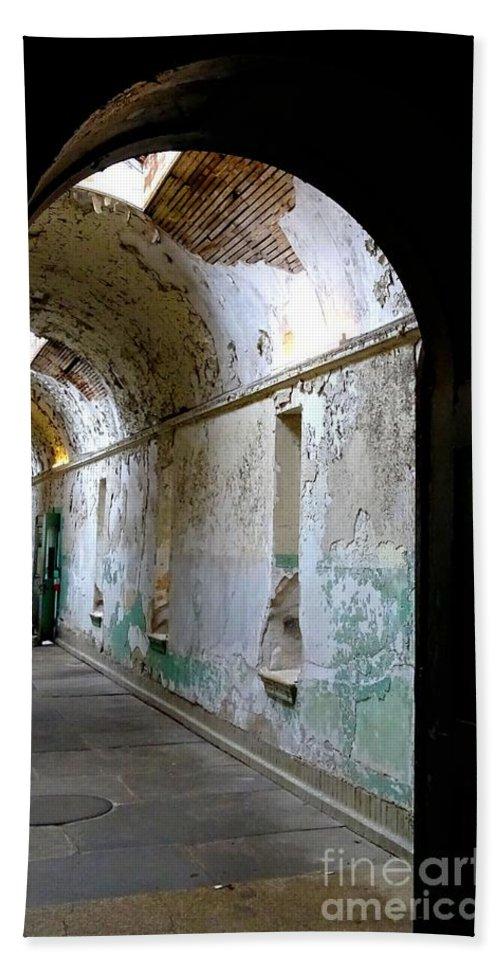 Eastern State Penitentiary Bath Sheet featuring the photograph Eastern State Penitentiary 8 by Heather Jane
