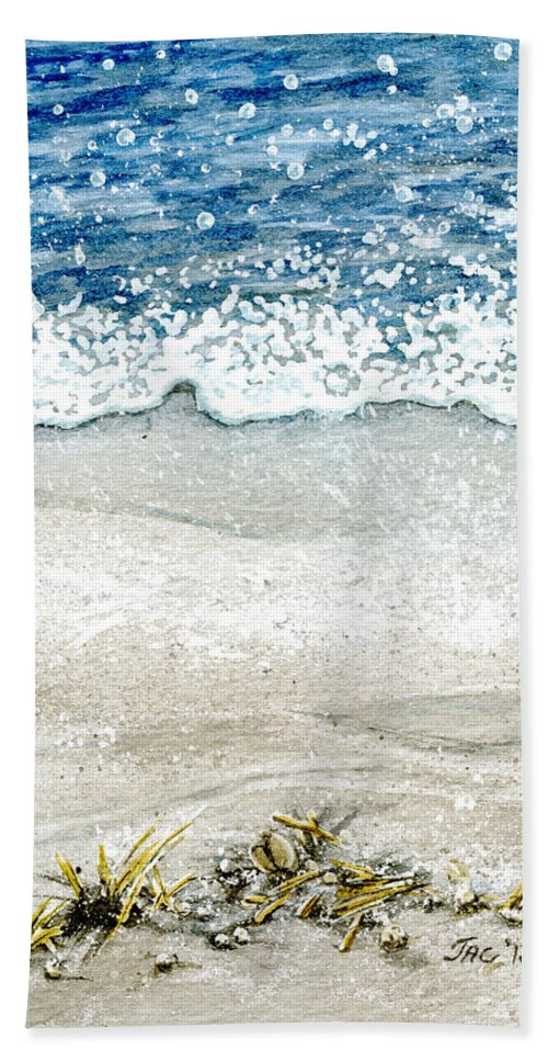 Watercolor Hand Towel featuring the painting Ebb And Flow by Jennifer Creech