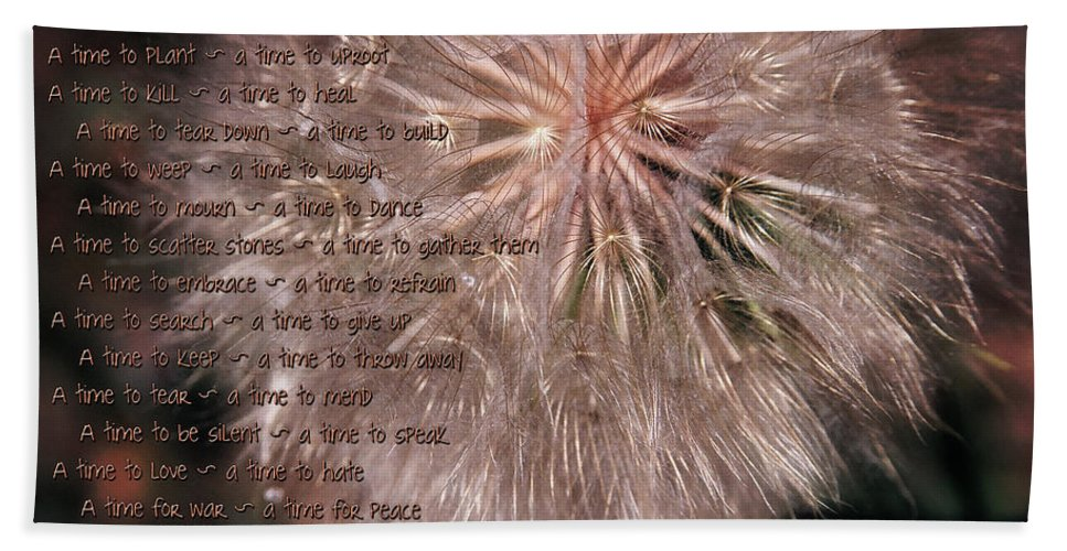 Season Bath Sheet featuring the painting Ecclesiastes Seasons by Constance Woods