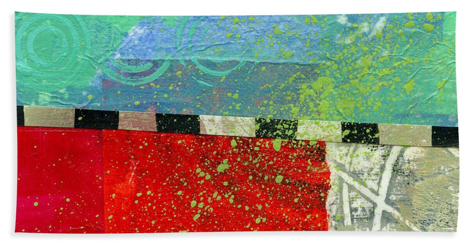 4x4 Bath Towel featuring the painting Edge 48 by Jane Davies