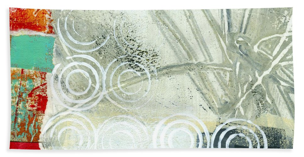 4x4 Bath Towel featuring the painting Edge 51 by Jane Davies