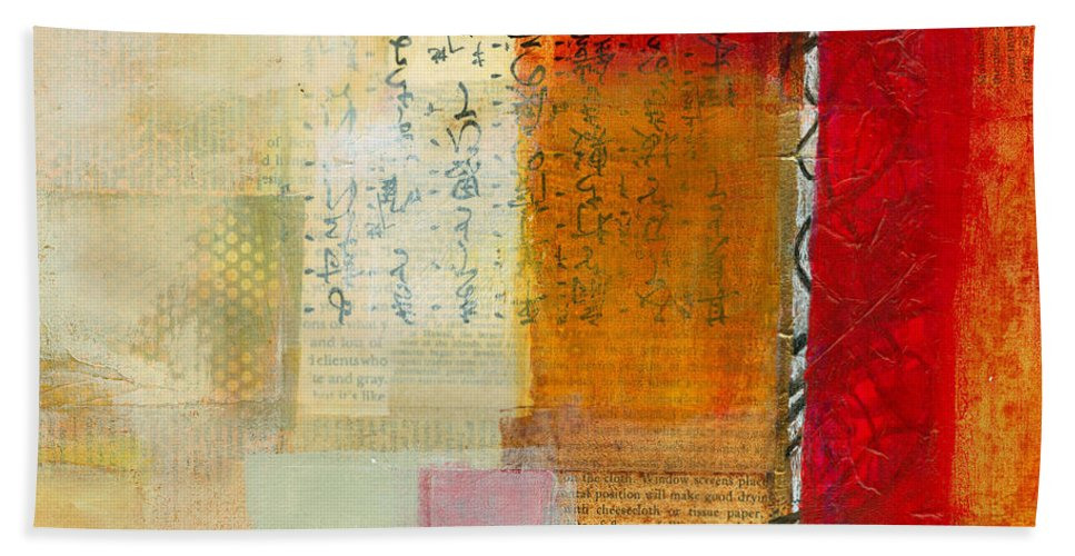 Acrylic Hand Towel featuring the painting Edge Location 8 by Jane Davies