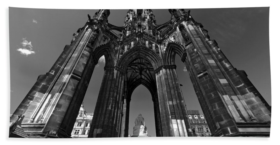 Monument Hand Towel featuring the photograph Edinburgh's Scott Monument by Ross G Strachan