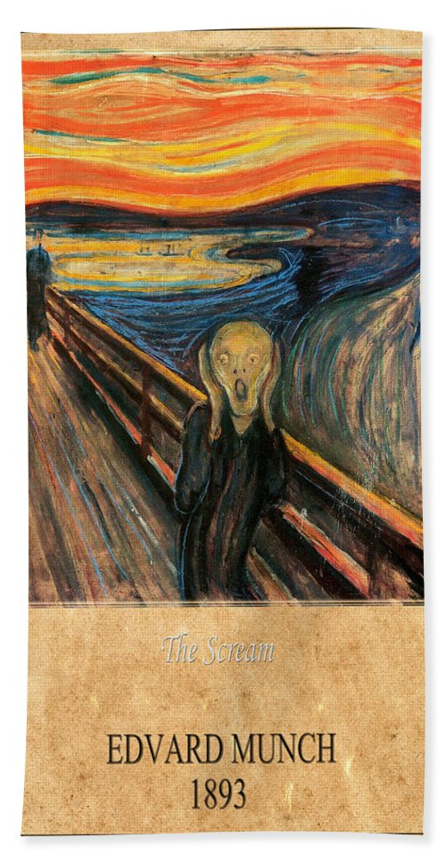 Munch Hand Towel featuring the photograph Edvard Munch 1 by Andrew Fare
