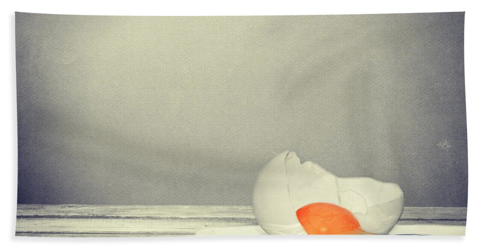 Egg Bath Sheet featuring the photograph Egg by Heike Hultsch