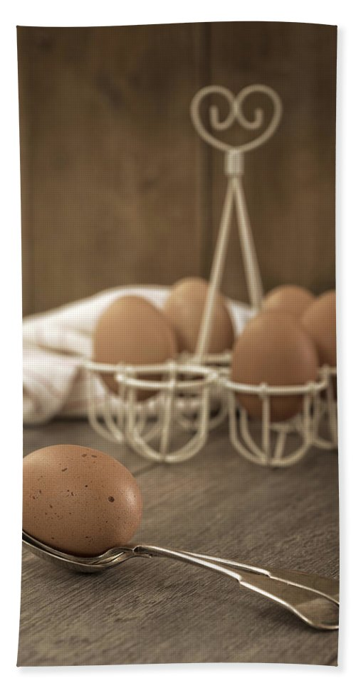 Eggs Hand Towel featuring the photograph Eggs by Amanda Elwell