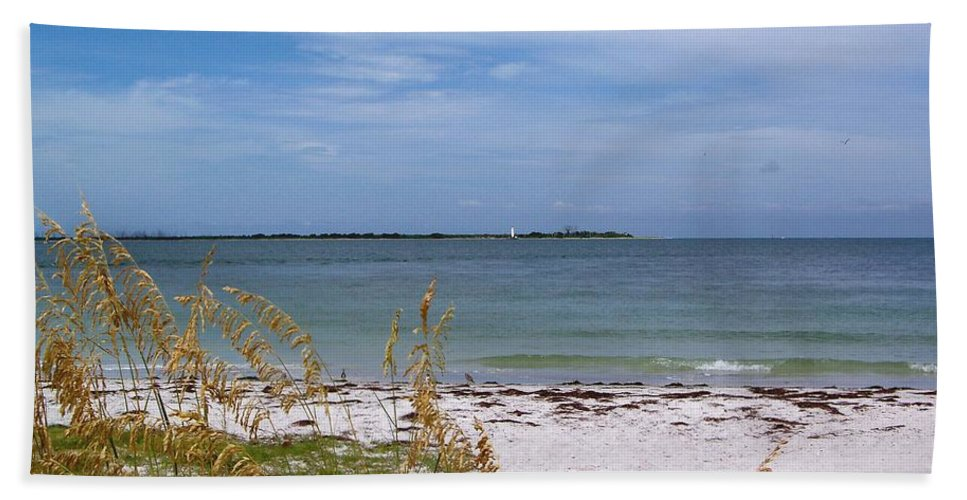 Tampa Bath Sheet featuring the photograph Egmont Key by Katie Beougher