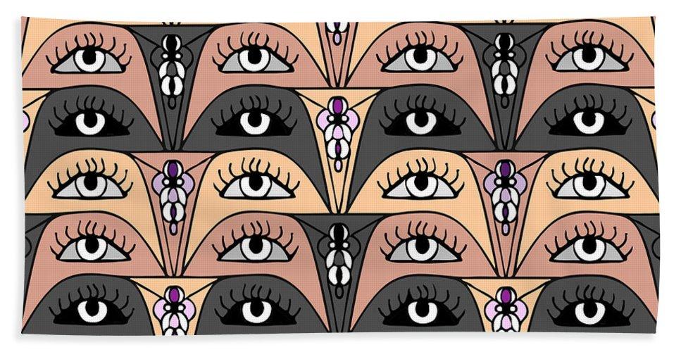 Beautiful Eyes Bath Sheet featuring the digital art Egypt by Susan Eileen Evans
