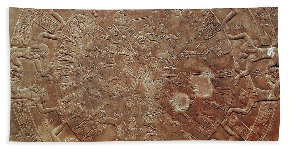 1st Century B. C. Bath Sheet featuring the photograph Egyptian Celestial Sphere by Granger