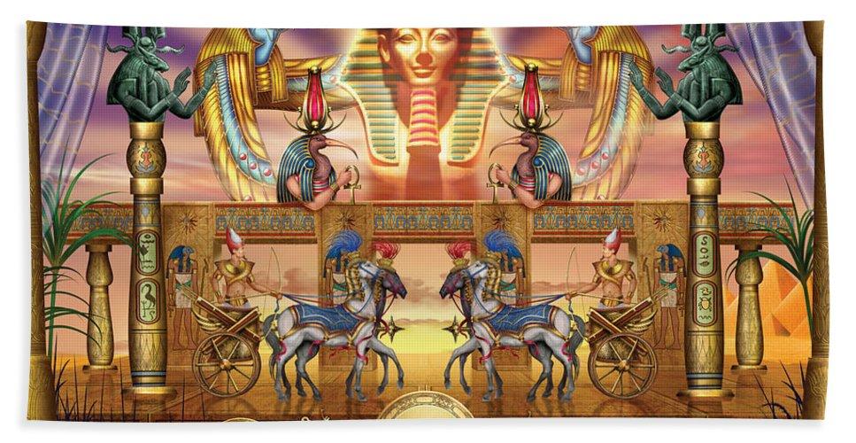 Authority Bath Sheet featuring the digital art Egyptian by Ciro Marchetti