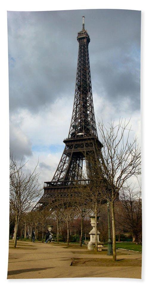 Paris Bath Sheet featuring the photograph Eifel Tower by Louis Yamonico