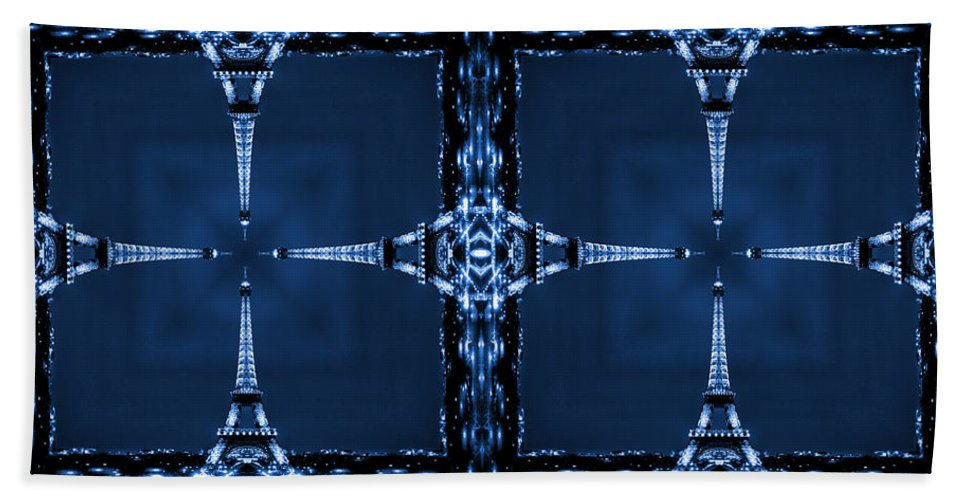 Modern Art Bath Sheet featuring the photograph Eiffel Art 27a by Mike McGlothlen