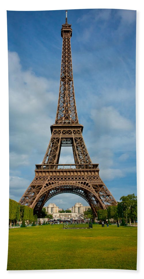 Eiffel Tower Hand Towel featuring the photograph Eiffel Tower by Anthony Doudt