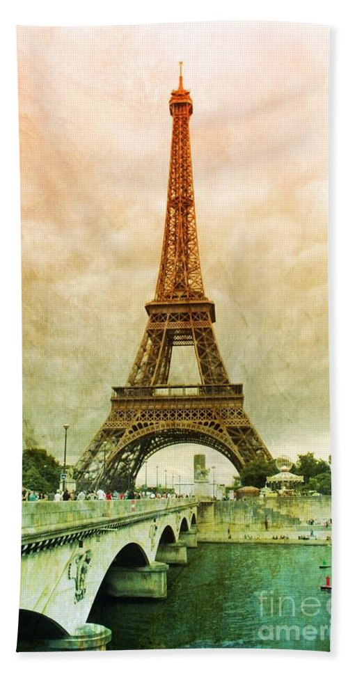 Paris Bath Sheet featuring the photograph Eiffel Tower Mood by Carol Groenen