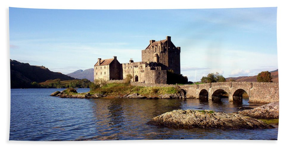 Clan Macrae Hand Towel featuring the photograph Eilean Donan Castle Kintail Scotland by Rodger Insh