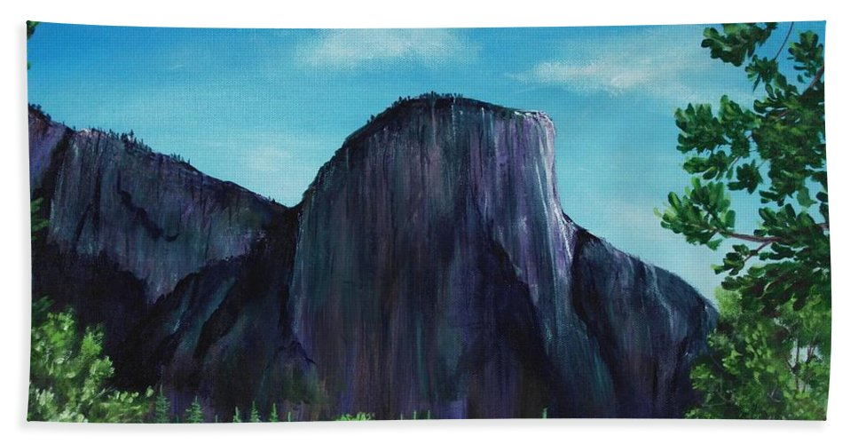 Interior Bath Sheet featuring the painting El Capitan by Anastasiya Malakhova