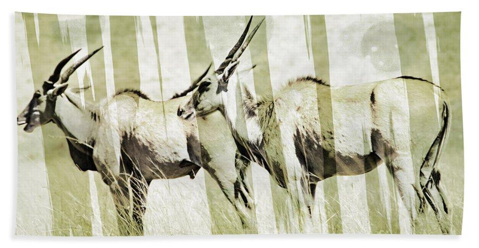 Eland Hand Towel featuring the photograph Eland-modern by Douglas Barnard