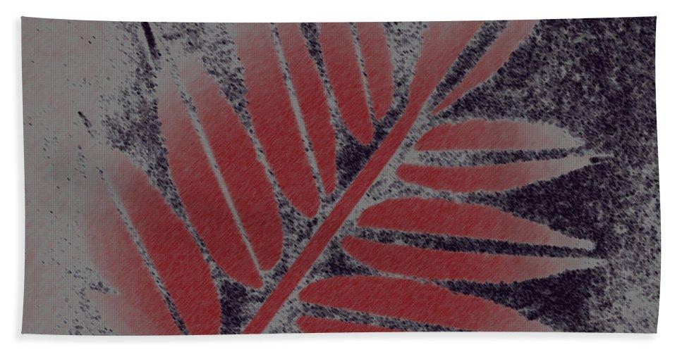 Leaf Hand Towel featuring the digital art Elderberry Leaf by Lovina Wright