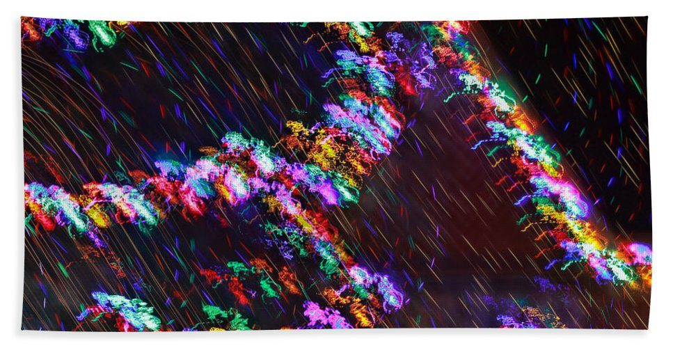 Christmas Hand Towel featuring the photograph Electric Caterpillar by Gary Holmes