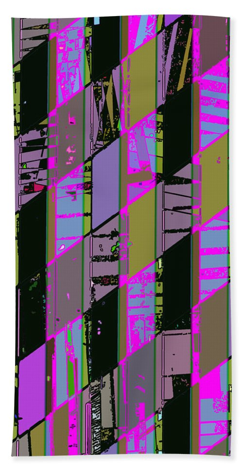 Abstract Hand Towel featuring the photograph Electric Magenta by David Pantuso