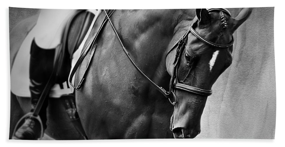 Horse Photography Hand Towel featuring the photograph Elegance - Dressage Horse by Michelle Wrighton