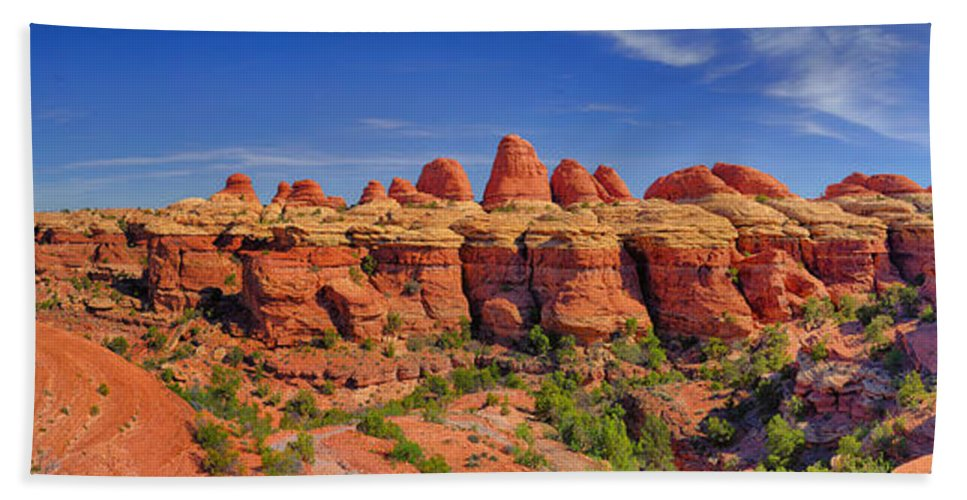 Elephant Canyon Bath Sheet featuring the photograph Elephant Canyon Panorama by Greg Norrell