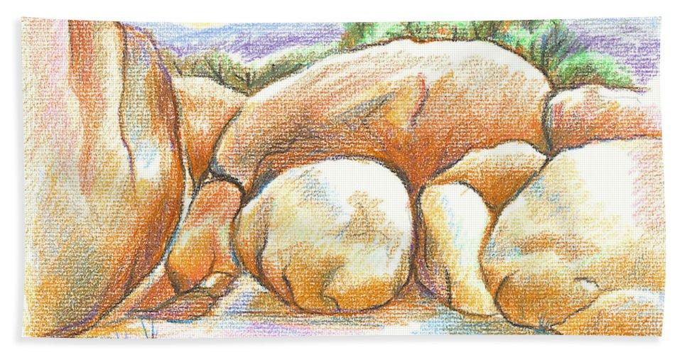 Elephant Rocks State Park Ii No C103 Bath Sheet featuring the painting Elephant Rocks State Park II No C103 by Kip DeVore