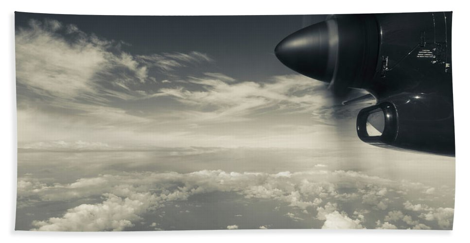 Photography Bath Sheet featuring the photograph Elevated View Of Caribbean Sea by Panoramic Images