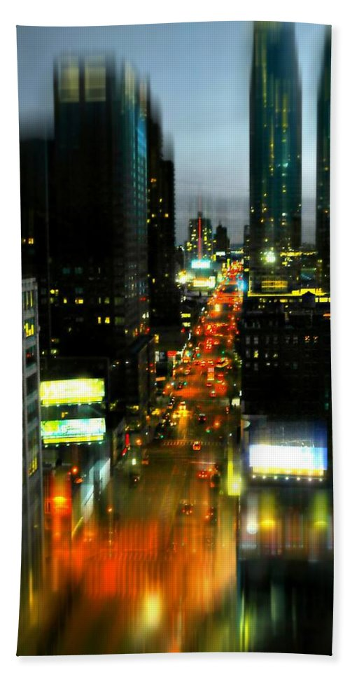 New York City Hand Towel featuring the photograph Eleventh Avenue by Diana Angstadt