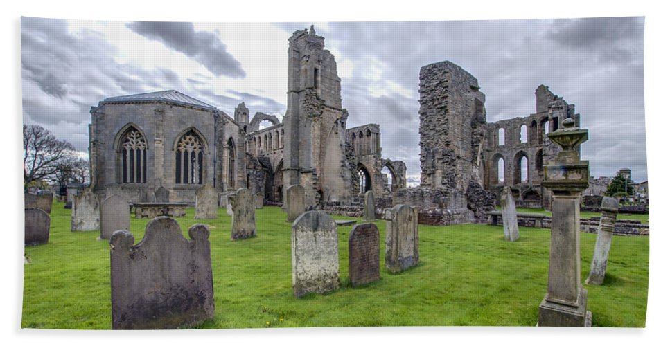 Elgin Hand Towel featuring the photograph Elgin Cathedral Community - 3 by Paul Cannon
