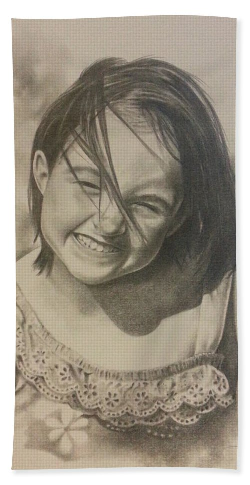 Child Bath Sheet featuring the drawing Elise by James Rodgers