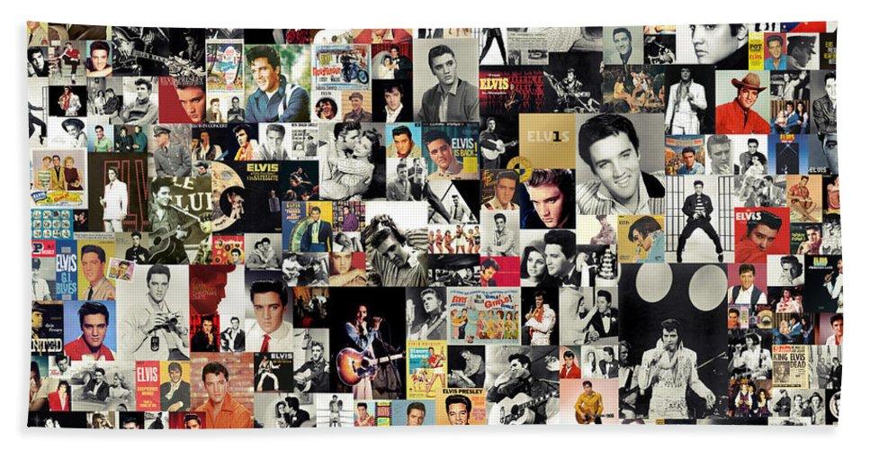 Elvis Presley Bath Towel featuring the digital art Elvis The King by Zapista OU