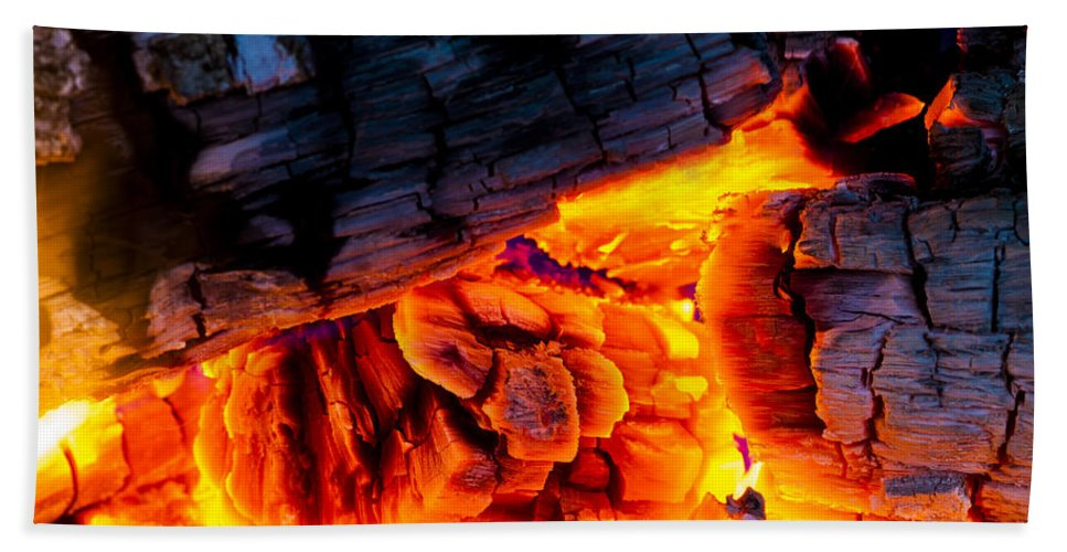 Ash Hand Towel featuring the photograph Embers by Marc Garrido