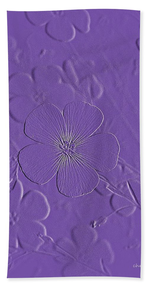 Nature Hand Towel featuring the photograph Embossed Bouquet by Chris Berry
