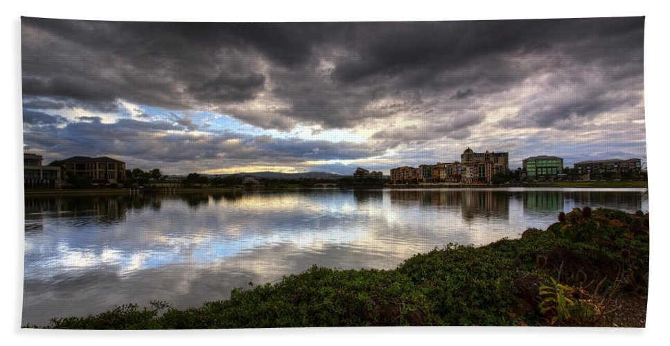 Gold Coast Hand Towel featuring the photograph Emerald Lakes by Darren Burton