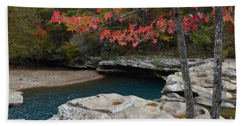 Nature Hand Towel featuring the photograph Emerald Pool by Deanna Cagle