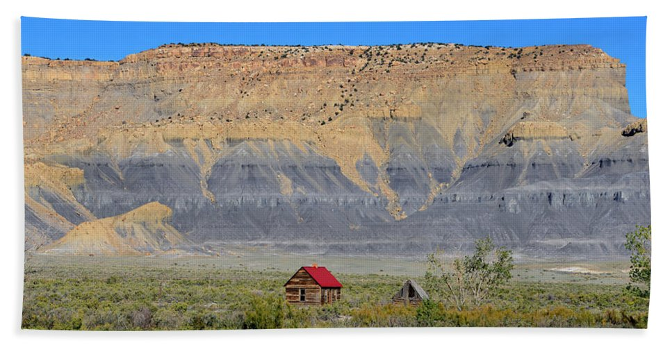 Emery Utah Hand Towel featuring the photograph Emery Utah by David Lee Thompson